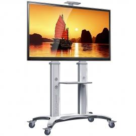 TV Standfuß mit Rollen Drehbar Höhenverstellbar Universal Fernsehständer AVF1800-70-1P