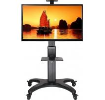 """TV Standfuß Ständer Drehbar Höhenverstellbar Fernsehständer mit Rollen für LCD LED Plasma Bildschirme 32""""-60"""" AVF1500-50-1"""