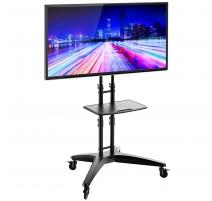 """TV Ständer Standfuss Halterung mit Rollen Höhenverstellbar für OLED LCD LED Plasma Flachbildschirme 32""""- 65"""" TS123"""