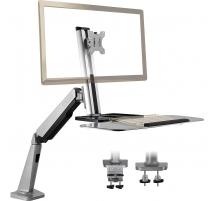 """Monitor Tischhalterung Sitz Steh Monitorhalter mit Gasdruckfeder für LCD LED Bildschirme für Monitor Tastatur 13""""- 32"""" W1GD"""
