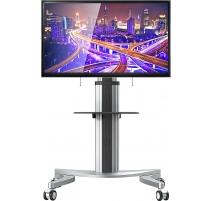 TV Standfuß mit Rollen Drehbar Höhenverstellbar Universal Fernsehständer TS1A-12